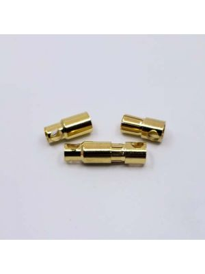 6.0mm GOLD PLATED BULLET BANANA PLUG CONNECTOR - 1 MALE/FEMALE
