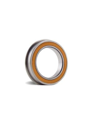 BOCA BEARINGS - Stainless Ceramic Flanged, Orange Non Contact Rubber Seals (5x13x4F)MM